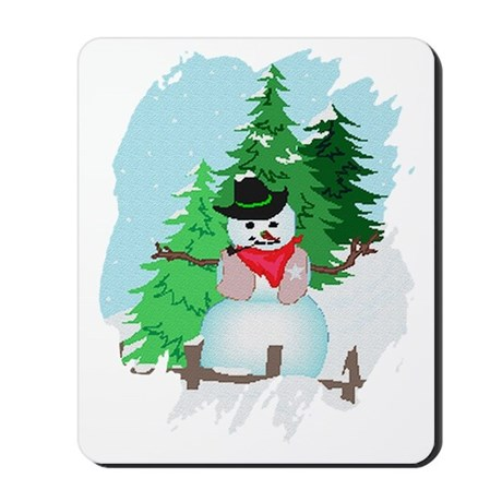 Forest Snowman Mousepad