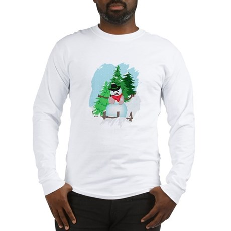 Forest Snowman Long Sleeve T-Shirt