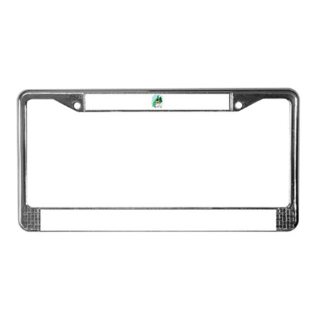 Forest Snowman License Plate Frame