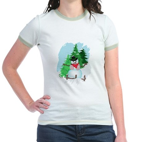 Forest Snowman Jr. Ringer T-Shirt
