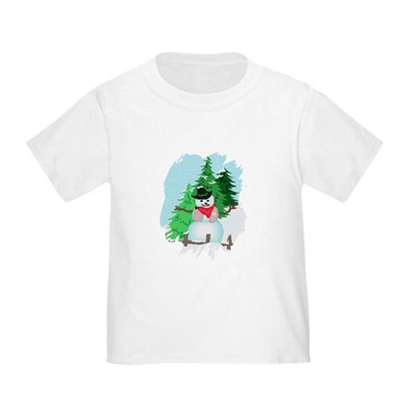 Forest Snowman Toddler T-Shirt