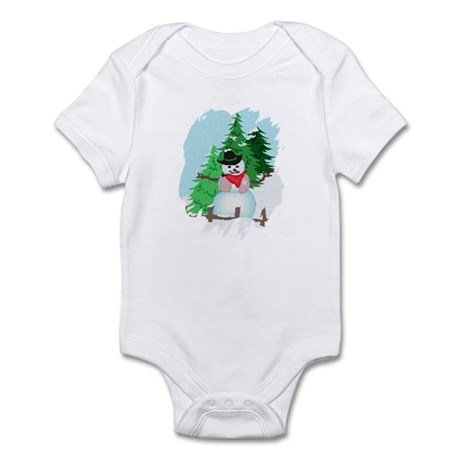 Forest Snowman Infant Bodysuit