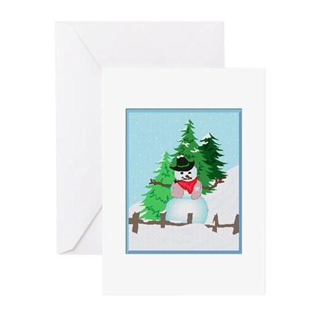 Forest Snowman Greeting Cards (Pk of 10)