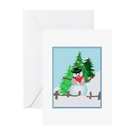 Forest Snowman Greeting Card
