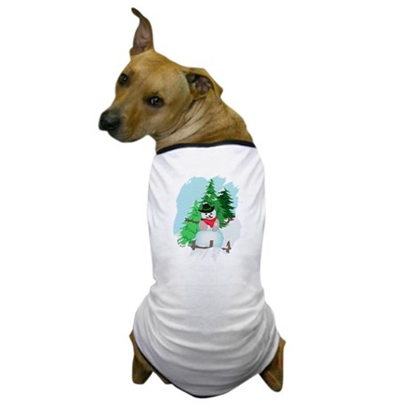 Forest Snowman Dog T-Shirt
