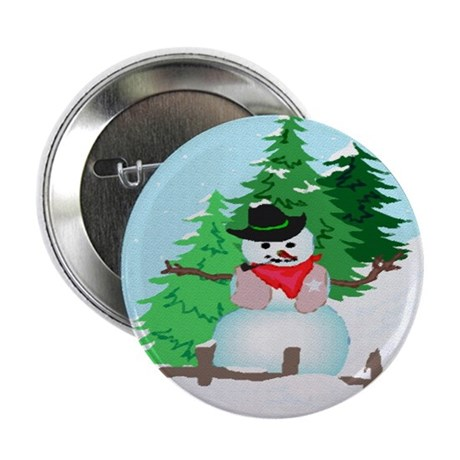 Forest Snowman Button