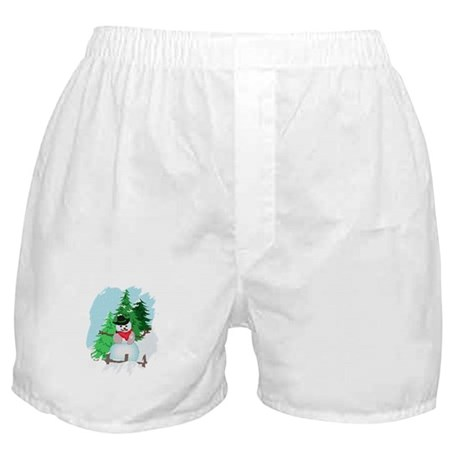 Forest Snowman Boxer Shorts