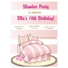Slumber Party Birthday Party Invitations