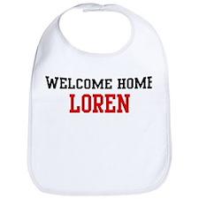 Welcome home LOREN Bib