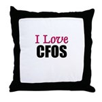 I Love CFOS Throw Pillow