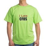 I Love CFOS Green T-Shirt