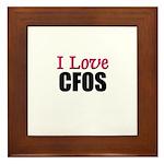 I Love CFOS Framed Tile