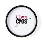 I Love CFOS Wall Clock