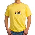 I Love CFOS Yellow T-Shirt