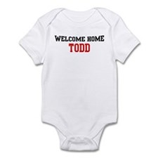 Welcome home TODD Infant Bodysuit