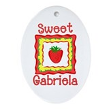 Sweet Gabriela Oval Ornament