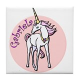 Gabriela Unicorn Tile Coaster