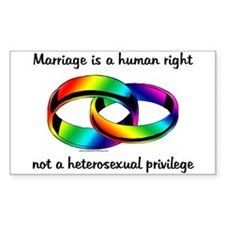 Marriage is a Human Right Rectangle Decal