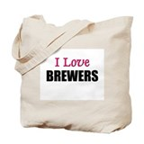 I Love BREWERS Tote Bag