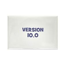 Version~10.0 Rectangle Magnet (10 pack)
