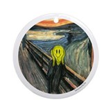 Smiley Scream Ornament (Round)