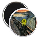 Smiley Scream 2.25&quot; Magnet (10 pack)