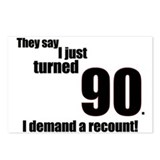 They say I just turned 90... Postcards (Package of