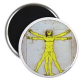 "Vitruvian Smiley 2.25"" Magnet (100 pack)"