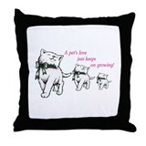 pet's love Throw Pillow