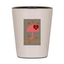 Red Dotted Umbrella Bright Hearts Dots Shot Glass