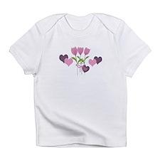 Custom Romantic Pink Tulips Season Infant T-Shirt