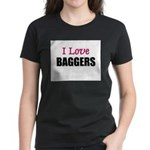 I Love BAGGERS Women's Dark T-Shirt