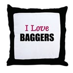 I Love BAGGERS Throw Pillow