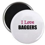 I Love BAGGERS Magnet