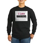 I Love BAGGERS Long Sleeve Dark T-Shirt