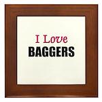 I Love BAGGERS Framed Tile