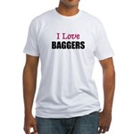 I Love BAGGERS Fitted T-Shirt