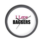 I Love BAGGERS Wall Clock