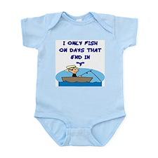Fishing Days Infant Bodysuit