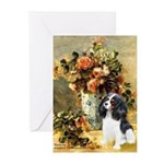 Flowers & Tri Cavalier Greeting Cards (Pk of 20)