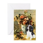 Flowers & Tri Cavalier Greeting Card