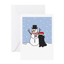 Poodle Howling Holiday Greeting Card