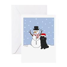 Black Poodle Holidays Greeting Card