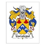 Garategui Family Crest  Small Poster