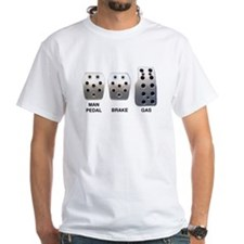 Man Pedal T-Shirt (White)