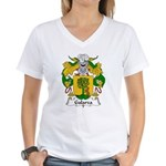 Galarza Family Crest Women's V-Neck T-Shirt