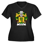 Galarza Family Crest Women's Plus Size V-Neck Dark