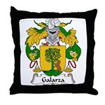Galarza Family Crest Throw Pillow