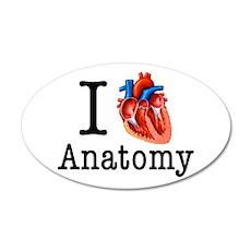 I love Cardiology 35x21 Oval Wall Decal