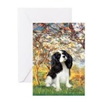Spring & Tri Cavalier Greeting Card